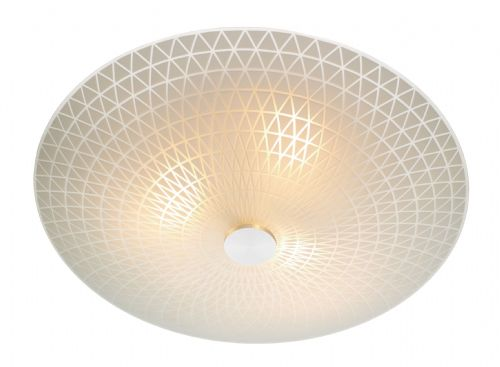 Colby 3-light Frosted Glass Flush Ceiling Light COL522 (055409)